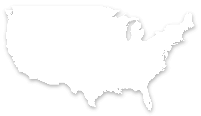 Flat US map showing Dish and SlingTV coverage